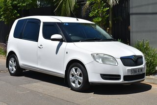2007 Skoda Roomster 5J White 6 Speed Sports Automatic Wagon