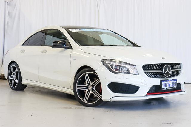 Used Mercedes-Benz CLA-Class C117 806MY CLA250 DCT 4MATIC Sport Wangara, 2016 Mercedes-Benz CLA-Class C117 806MY CLA250 DCT 4MATIC Sport White 7 Speed