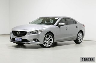 2014 Mazda 6 6C Atenza Silver 6 Speed Automatic Sedan.