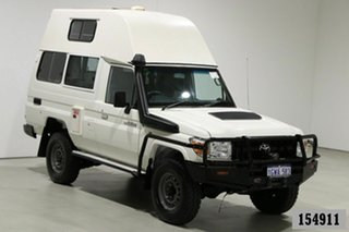 2018 Toyota Landcruiser VDJ78R MY18 Workmate (4x4) 2 Seat White 5 Speed Manual TroopCarrier