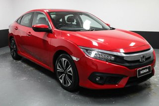 2016 Honda Civic 10th Gen MY16 VTi-LX Red 1 Speed Constant Variable Sedan.