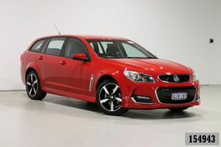 2017 Holden Commodore VF II MY17 SV6 Red 6 Speed Automatic Sportswagon.