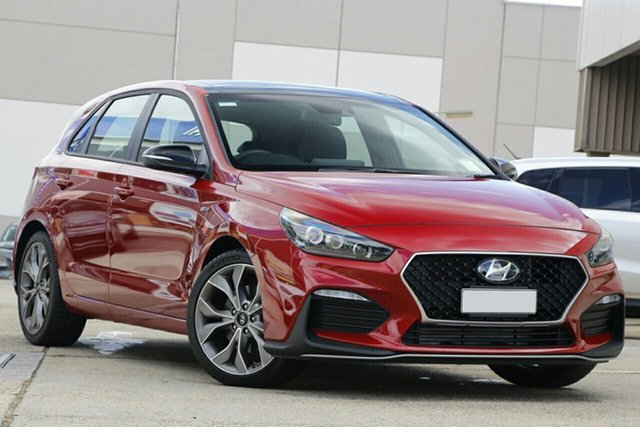 New Hyundai i30 PD.V4 MY21 N Line D-CT Premium Cardiff, 2020 Hyundai i30 PD.V4 MY21 N Line D-CT Premium Firey Red 7 Speed Sports Automatic Dual Clutch