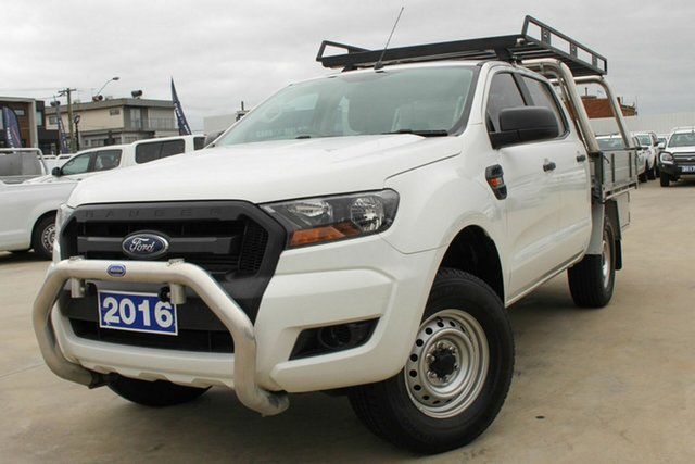 Used Ford Ranger PX MkII XL Hi-Rider Coburg North, 2016 Ford Ranger PX MkII XL Hi-Rider White 6 Speed Sports Automatic Cab Chassis