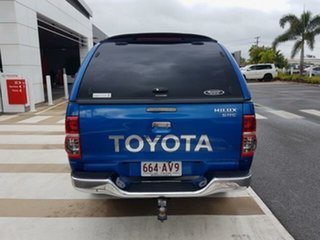 2014 Toyota Hilux KUN26R MY14 SR Double Cab Tidal Blue 5 Speed Manual Utility.