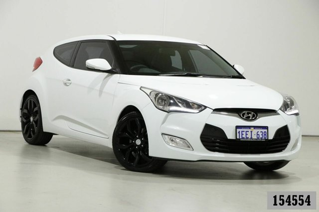 Used Hyundai Veloster FS MY13 Bentley, 2013 Hyundai Veloster FS MY13 White 6 Speed Manual Coupe