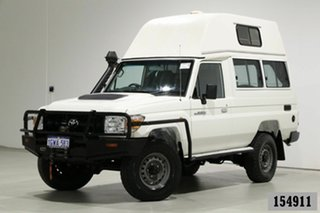 2018 Toyota Landcruiser VDJ78R MY18 Workmate (4x4) 2 Seat White 5 Speed Manual TroopCarrier.