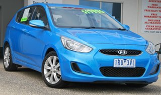 2017 Hyundai Accent RB5 Sport Blue 6 Speed Automatic Hatchback.