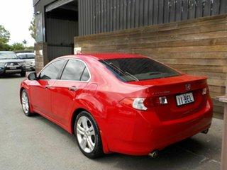 2008 Honda Accord Euro CU Luxury Red 5 Speed Automatic Sedan