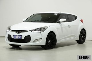 2013 Hyundai Veloster FS MY13 White 6 Speed Manual Coupe.