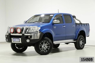 2013 Toyota Hilux GGN25R MY12 SR5 (4x4) Tidal Blue 5 Speed Automatic Dual Cab Pick-up.