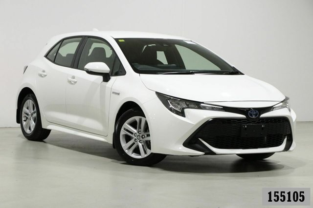 Used Toyota Corolla ZWE211R Ascent Sport Hybrid Bentley, 2019 Toyota Corolla ZWE211R Ascent Sport Hybrid White Continuous Variable Hatchback