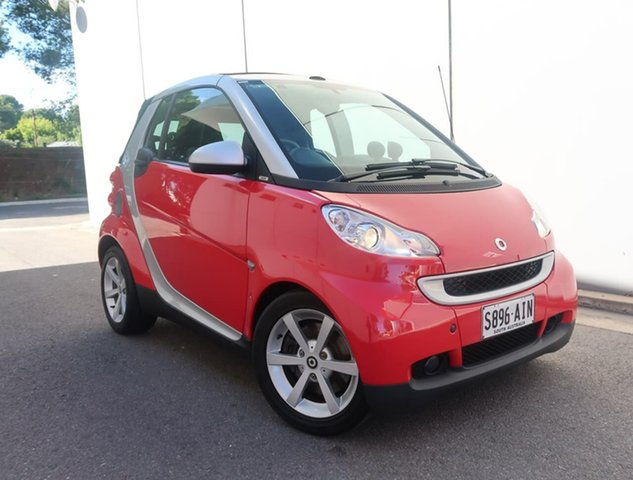 Used Smart ForTwo 451 MY09 pulse Softip Reynella, 2009 Smart ForTwo 451 MY09 pulse Softip Red 5 Speed Seq Manual Auto-Clutch Cabriolet