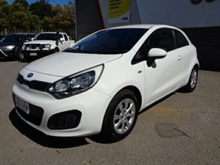 2012 Kia Rio UB MY13 S White 6 Speed Manual Hatchback