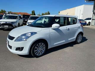 2011 Suzuki Swift FZ GLX White 4 Speed Automatic Hatchback