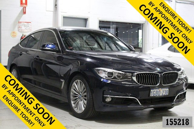 Used BMW 320i F34 MY15 Upgrade Gran Turismo (Luxury) Bentley, 2016 BMW 320i F34 MY15 Upgrade Gran Turismo (Luxury) Blue 8 Speed Automatic Hatchback