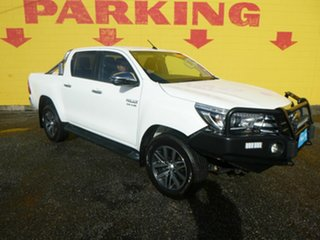 2018 Toyota Hilux GUN126R SR5 Double Cab White 6 Speed Sports Automatic Utility.