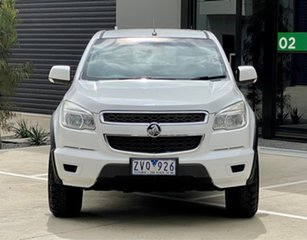 2013 Holden Colorado RG MY13 LX Crew Cab 4x2 White 6 Speed Sports Automatic Utility.