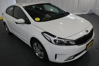 2018 Kia Cerato YD MY18 S White 6 Speed Auto Seq Sportshift Sedan.