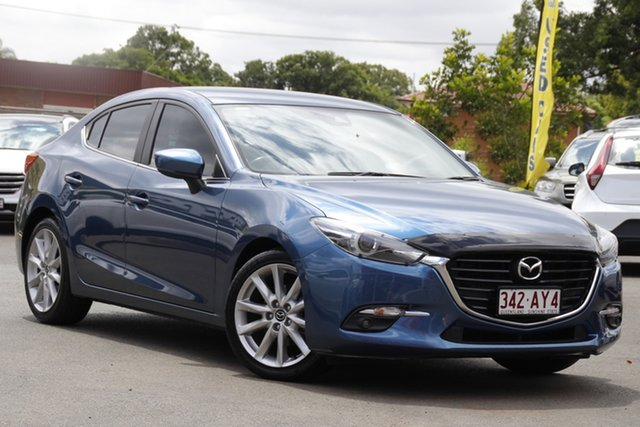 Used Mazda 3 BN5238 SP25 SKYACTIV-Drive GT Toowoomba, 2018 Mazda 3 BN5238 SP25 SKYACTIV-Drive GT Blue 6 Speed Sports Automatic Sedan
