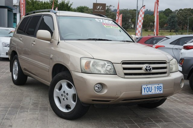 Used Toyota Kluger MCU28R Grande AWD Phillip, 2004 Toyota Kluger MCU28R Grande AWD Gold 5 Speed Automatic Wagon