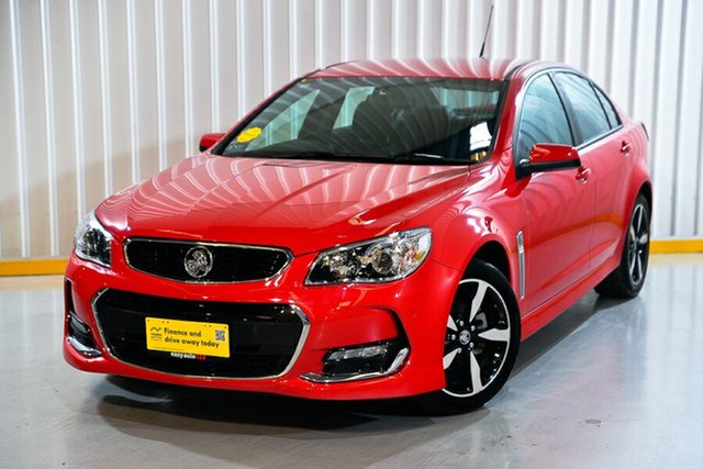 Used Holden Commodore VF II MY17 SV6 Hendra, 2017 Holden Commodore VF II MY17 SV6 Red/Black 6 Speed Sports Automatic Sedan