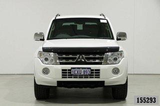 2014 Mitsubishi Pajero NW MY14 Exceed LWB (4x4) White 5 Speed Auto Sports Mode Wagon.