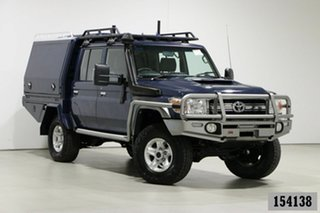 2017 Toyota Landcruiser LC70 VDJ79R MY17 GXL (4x4) Blue 5 Speed Manual Double Cab Chassis.