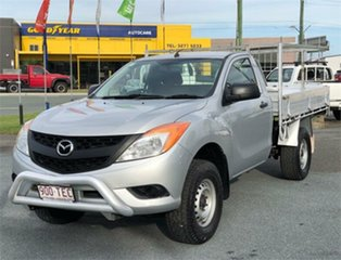 2013 Mazda BT-50 UP0YD1 XT Silver 6 Speed Manual Cab Chassis.