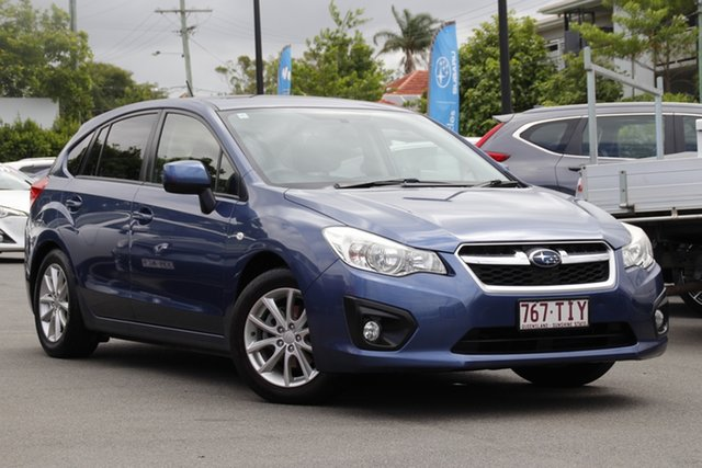 Used Subaru Impreza G4 MY13 2.0i-L Lineartronic AWD Mount Gravatt, 2013 Subaru Impreza G4 MY13 2.0i-L Lineartronic AWD Marine Blue 6 Speed Constant Variable Hatchback
