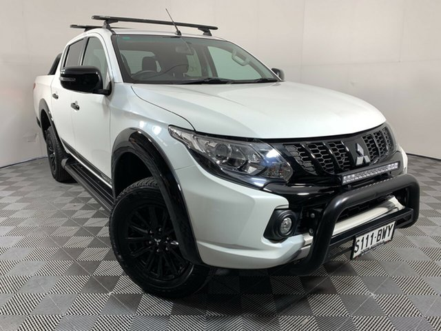 Used Mitsubishi Triton MQ MY18 Blackline Double Cab Wayville, 2018 Mitsubishi Triton MQ MY18 Blackline Double Cab White 5 Speed Sports Automatic Utility