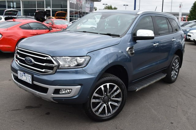 Used Ford Everest UA II 2020.25MY Titanium Essendon Fields, 2019 Ford Everest UA II 2020.25MY Titanium Blue Reflex 10 Speed Sports Automatic SUV