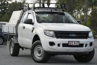 2013 Ford Ranger PX XL Hi-Rider Cool White 6 Speed Sports Automatic Cab Chassis.