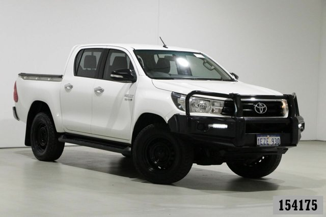 Used Toyota Hilux GUN126R SR (4x4) Bentley, 2016 Toyota Hilux GUN126R SR (4x4) White 6 Speed Manual Dual Cab Utility