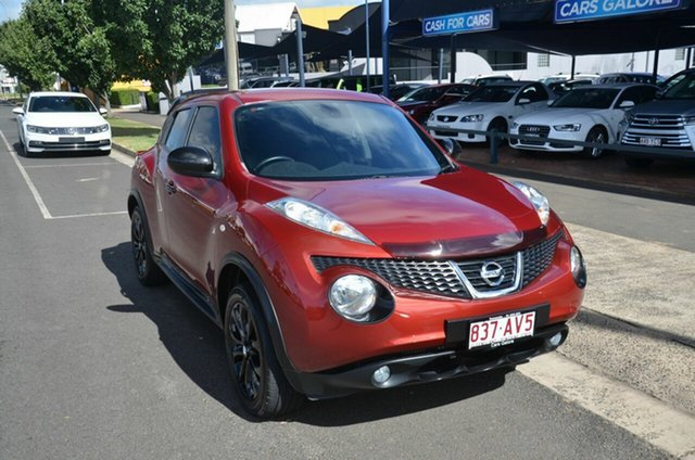 Used Nissan Juke F15 TI-S (AWD) Toowoomba, 2013 Nissan Juke F15 TI-S (AWD) Red Continuous Variable Wagon