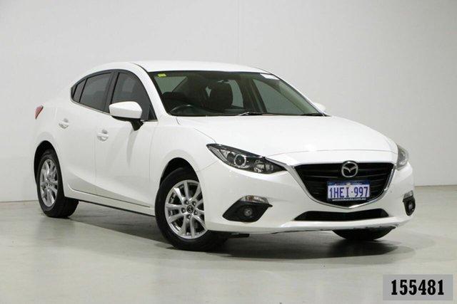 Used Mazda 3 BM MY15 Maxx Bentley, 2015 Mazda 3 BM MY15 Maxx White 6 Speed Automatic Sedan