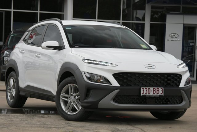 Demo Hyundai Kona Os.v4 MY21 2WD Beaudesert, 2020 Hyundai Kona Os.v4 MY21 2WD Atlas White 8 Speed Constant Variable Wagon