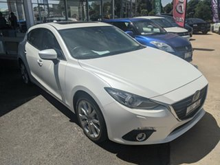 2013 Mazda 3 White 6 Speed Automatic Sedan.