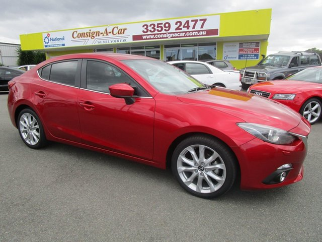 Used Mazda 3 BM5236 SP25 SKYACTIV-MT GT Kedron, 2015 Mazda 3 BM5236 SP25 SKYACTIV-MT GT Red 6 Speed Manual Sedan