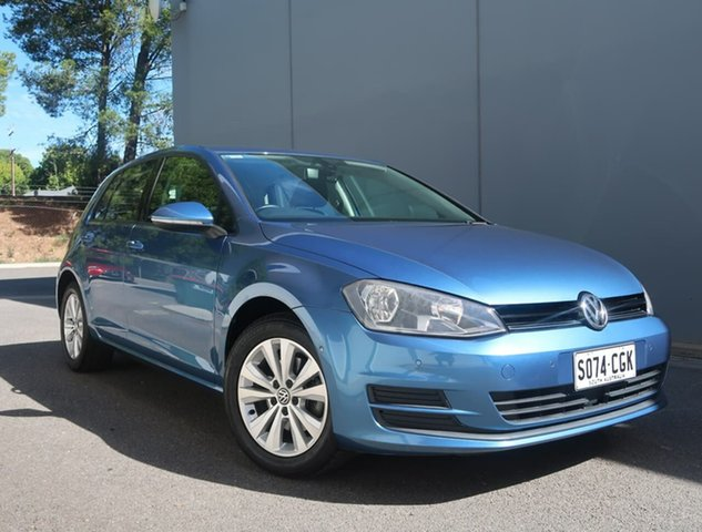 Used Volkswagen Golf VII MY14 90TSI Comfortline Reynella, 2013 Volkswagen Golf VII MY14 90TSI Comfortline Blue 6 Speed Manual Hatchback