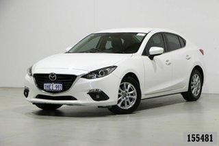 2015 Mazda 3 BM MY15 Maxx White 6 Speed Automatic Sedan.