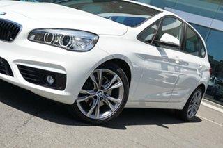 2015 BMW 220i F45 Active Tourer Sport Line Alpine White 8 Speed Automatic Wagon.