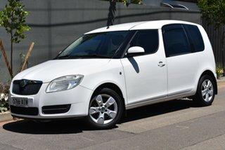 2007 Skoda Roomster 5J White 6 Speed Sports Automatic Wagon.