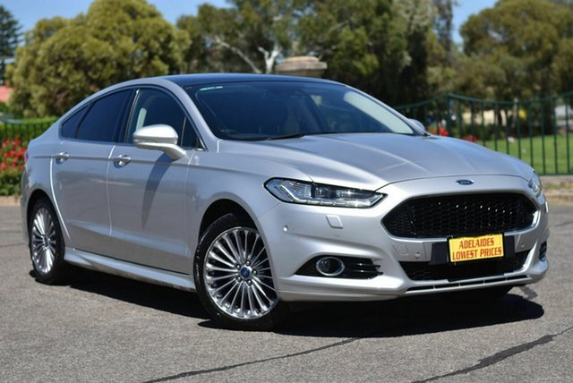 Used Ford Mondeo MD Titanium Morphett Vale, 2015 Ford Mondeo MD Titanium Silver 6 Speed Sports Automatic Hatchback