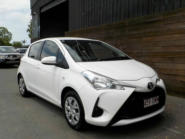 Used Toyota Yaris NCP130R Ascent Labrador, 2018 Toyota Yaris NCP130R Ascent White 4 Speed Automatic Hatchback