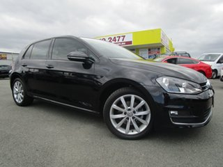2015 Volkswagen Golf VII MY16 110TSI DSG Highline Black 7 Speed Sports Automatic Dual Clutch