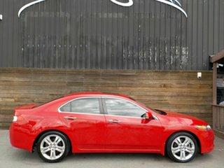 2008 Honda Accord Euro CU Luxury Red 5 Speed Automatic Sedan.