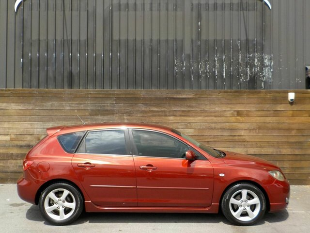 Used Mazda 3 BK10F1 Maxx Sport Labrador, 2005 Mazda 3 BK10F1 Maxx Sport Red 4 Speed Sports Automatic Hatchback