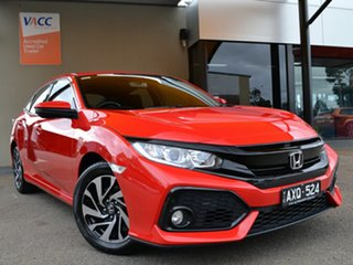 2019 Honda Civic 10th Gen MY19 50 Years Edition Red 1 Speed Constant Variable Hatchback.