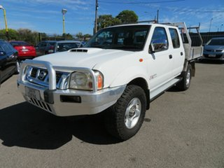 2012 Nissan Navara D22 Series 5 ST-R (4x4) White 5 Speed Manual Dual Cab Pick-up.